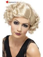 20s Flirty Flapper Wig, Blonde, short