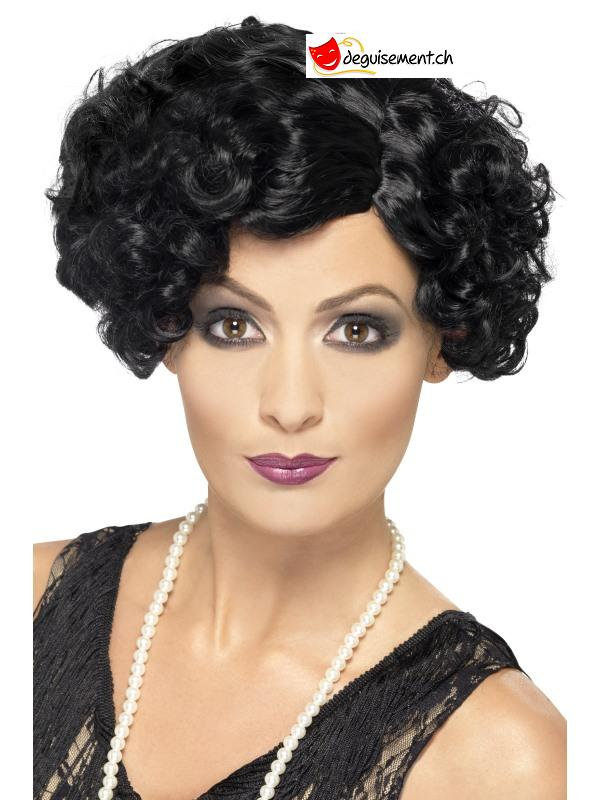 20s - charleston Flirty Flapper Wig, Short, Black