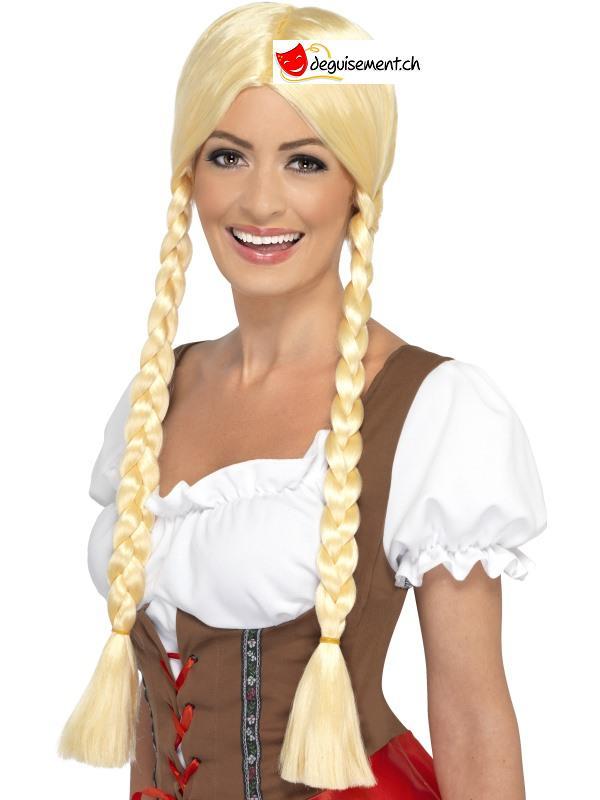 Perruque blonde avec tresse - heidi