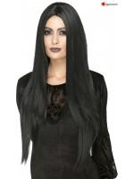 Perruque sorcière longue noir - Deluxe
