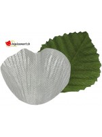 Metallic silver petals with leaves