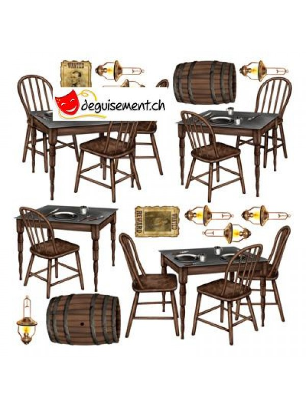 Saloon Table Props