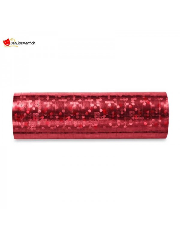 Serpentins rouge brillant - 18 lanceurs