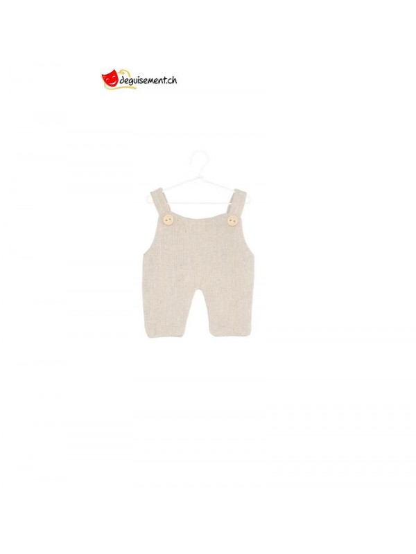 Set of 4 linen overalls to hang<br>